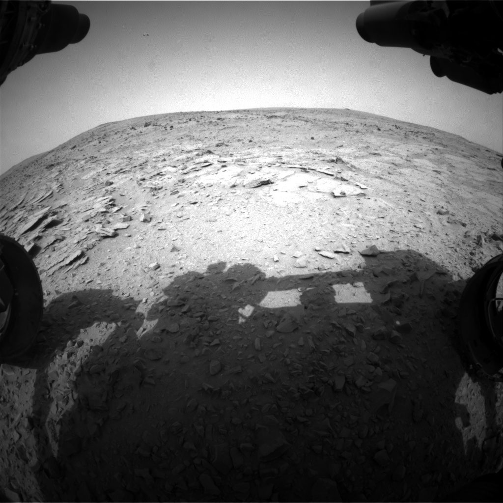 Nasa's Mars rover Curiosity acquired this image using its Front Hazard Avoidance Camera (Front Hazcam) on Sol 313, at drive 658, site number 6