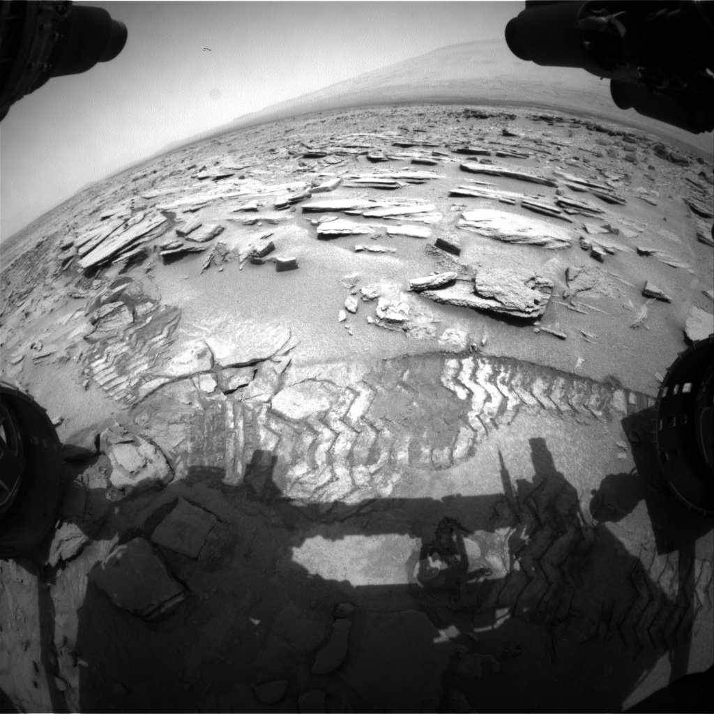 NASA's Mars rover Curiosity acquired this image using its Front Hazard Avoidance Cameras (Front Hazcams) on Sol 313