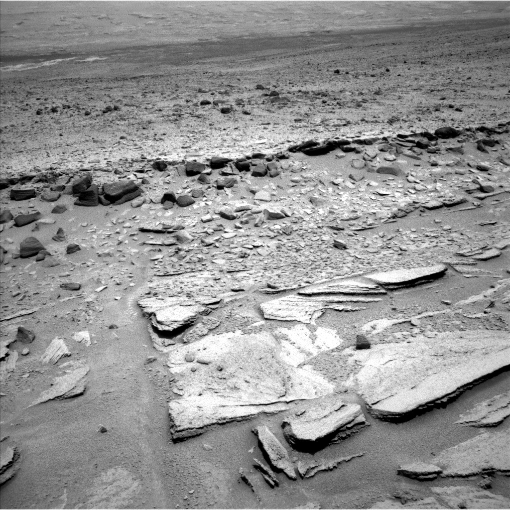 Nasa's Mars rover Curiosity acquired this image using its Left Navigation Camera on Sol 313, at drive 704, site number 6