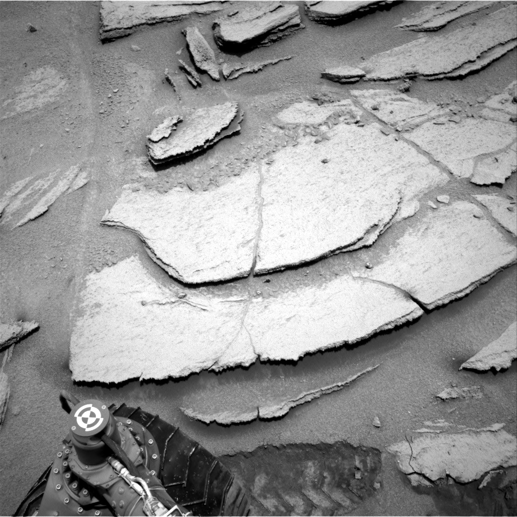 Nasa's Mars rover Curiosity acquired this image using its Right Navigation Camera on Sol 313, at drive 704, site number 6