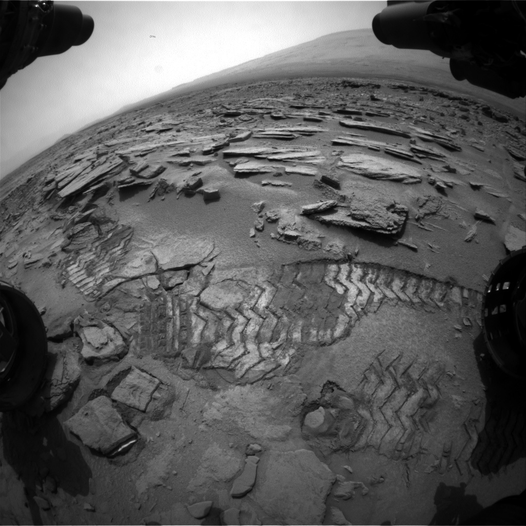 NASA's Mars rover Curiosity acquired this image using its Front Hazard Avoidance Cameras (Front Hazcams) on Sol 314