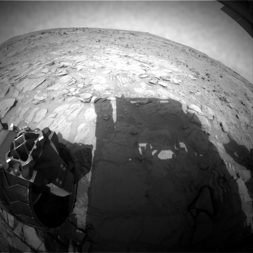NASA's Mars rover Curiosity acquired this image using its Rear Hazard Avoidance Cameras (Rear Hazcams) on Sol 314