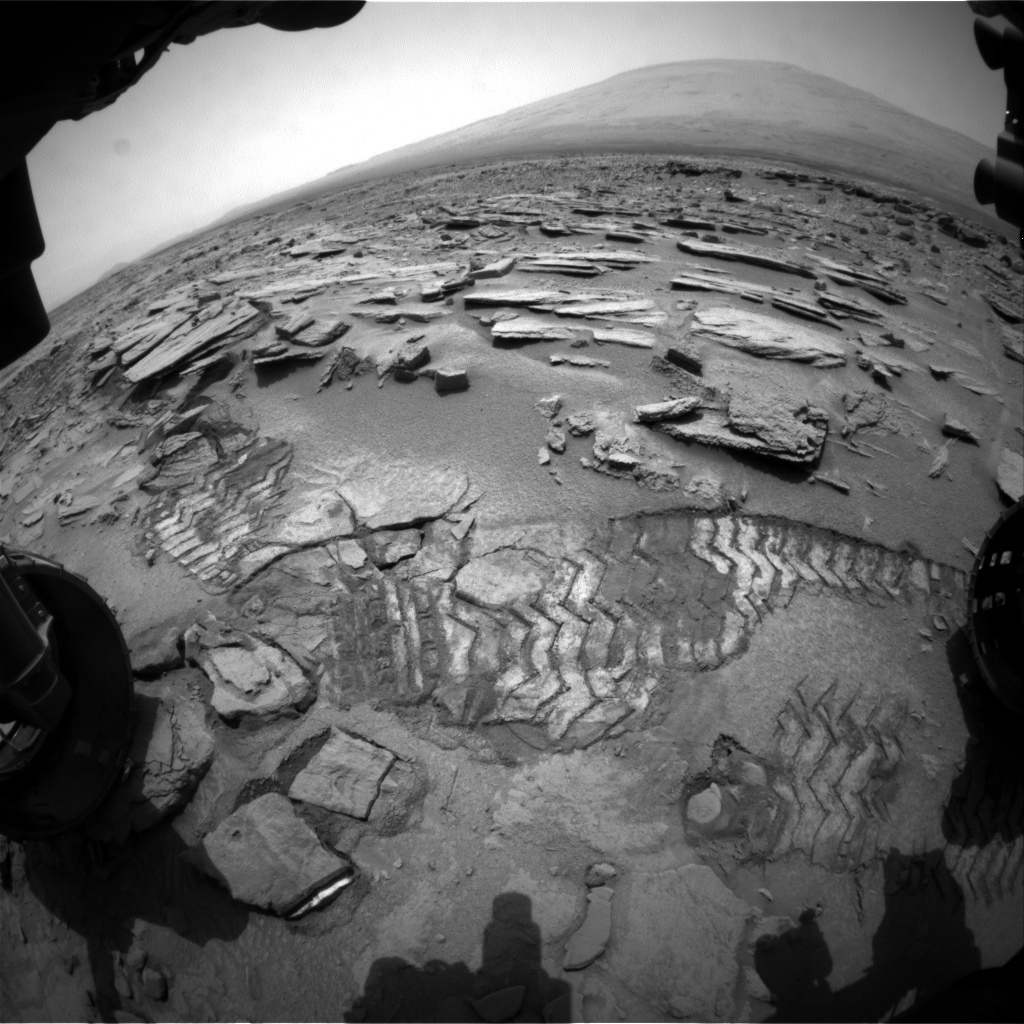 NASA's Mars rover Curiosity acquired this image using its Front Hazard Avoidance Cameras (Front Hazcams) on Sol 315