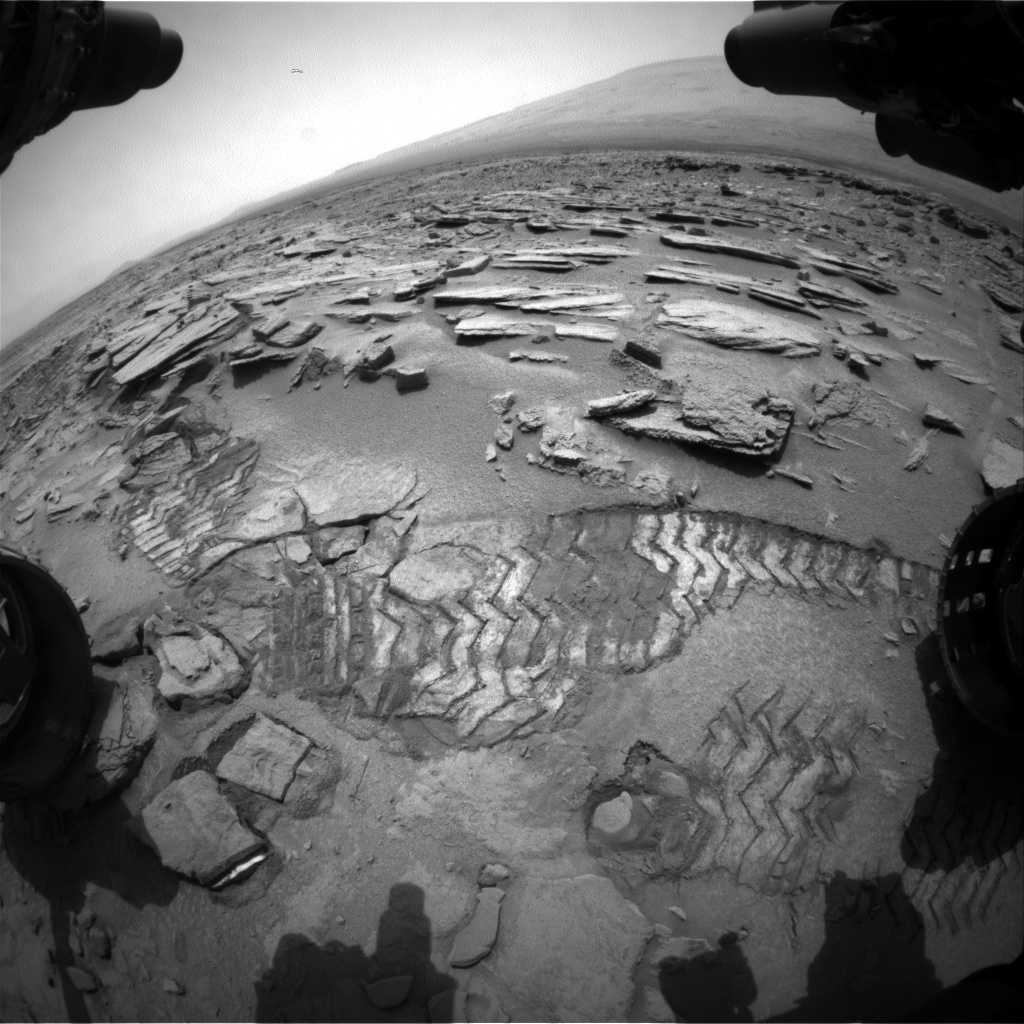 Nasa's Mars rover Curiosity acquired this image using its Front Hazard Avoidance Camera (Front Hazcam) on Sol 315, at drive 704, site number 6