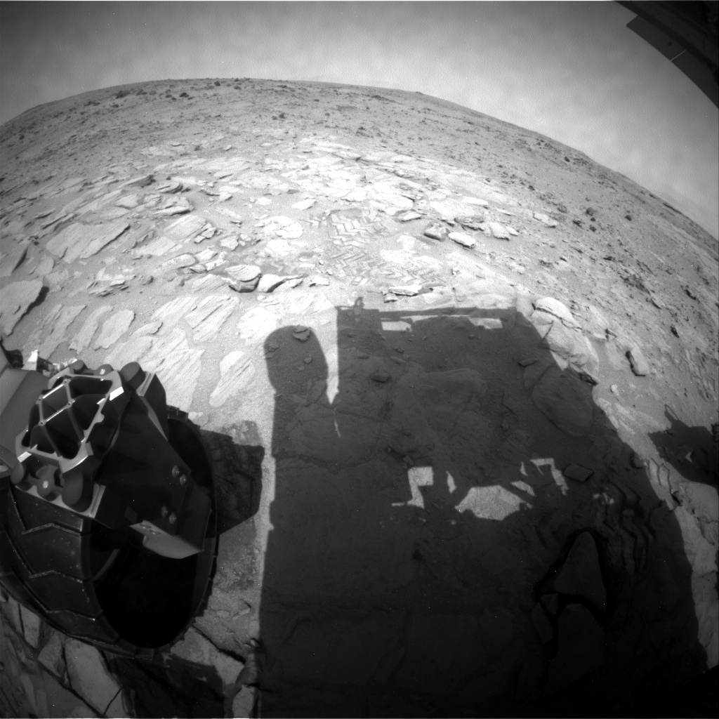 NASA's Mars rover Curiosity acquired this image using its Rear Hazard Avoidance Cameras (Rear Hazcams) on Sol 315