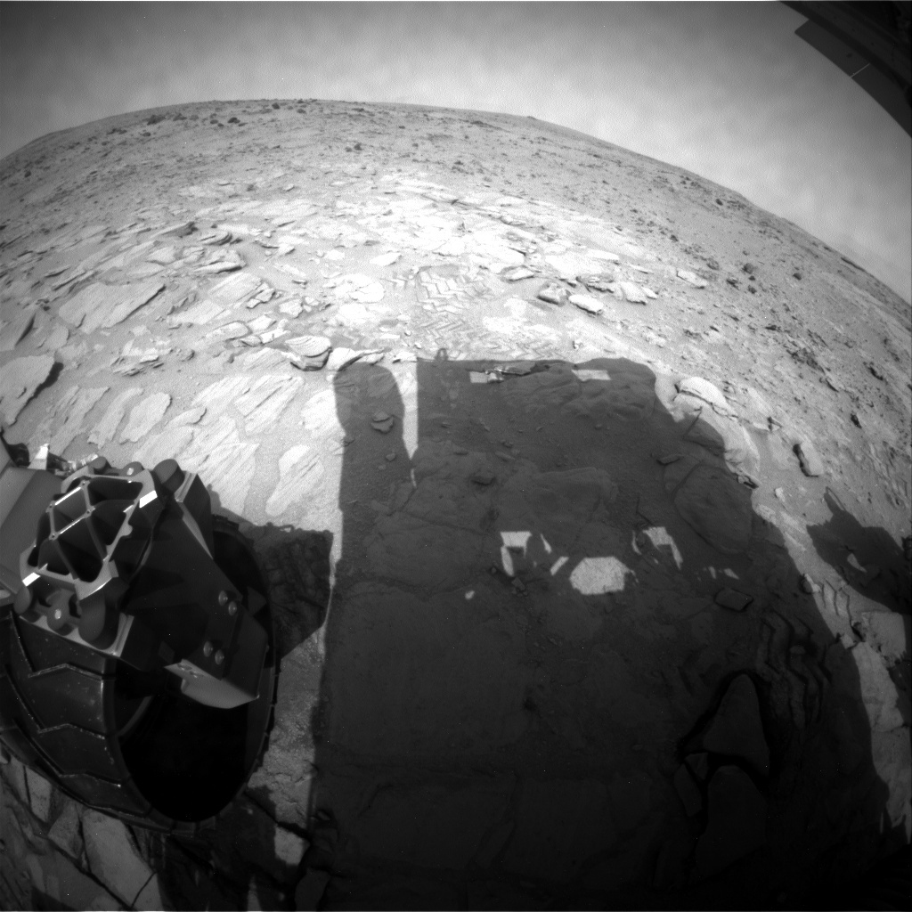 NASA's Mars rover Curiosity acquired this image using its Rear Hazard Avoidance Cameras (Rear Hazcams) on Sol 316