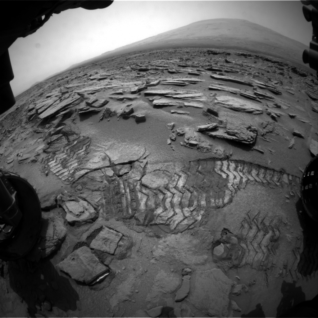 Nasa's Mars rover Curiosity acquired this image using its Front Hazard Avoidance Camera (Front Hazcam) on Sol 317, at drive 704, site number 6