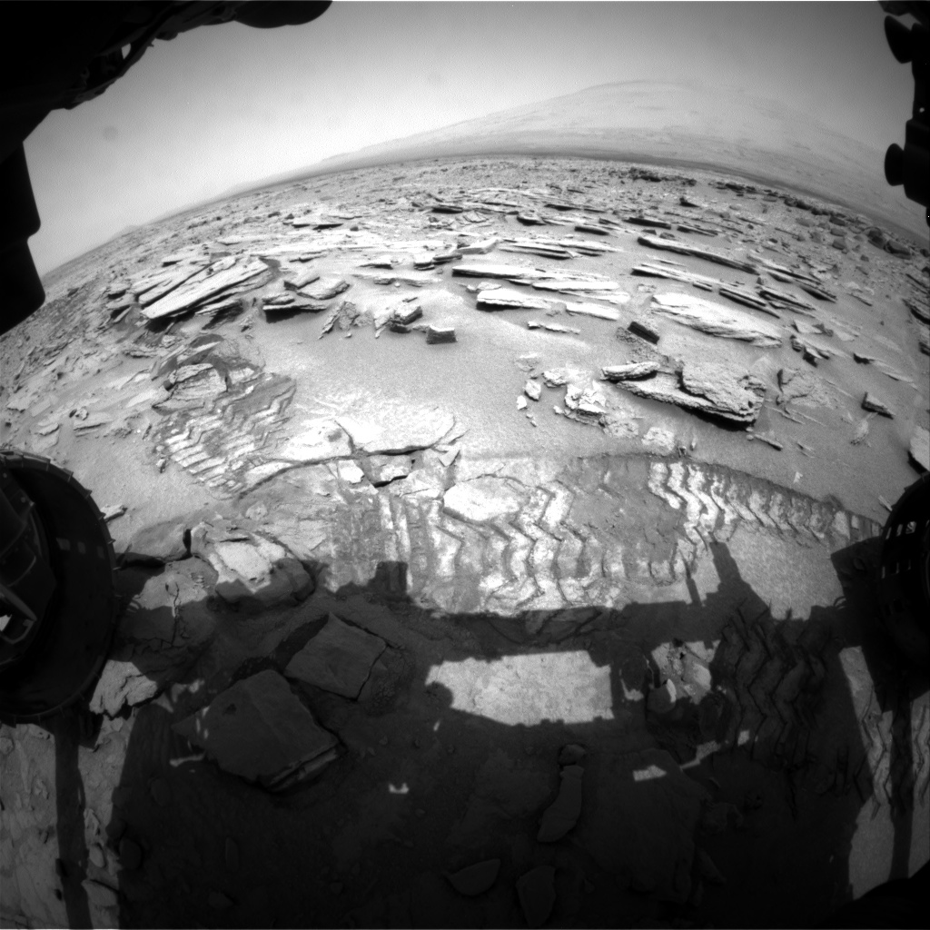 Nasa's Mars rover Curiosity acquired this image using its Front Hazard Avoidance Camera (Front Hazcam) on Sol 317, at drive 716, site number 6