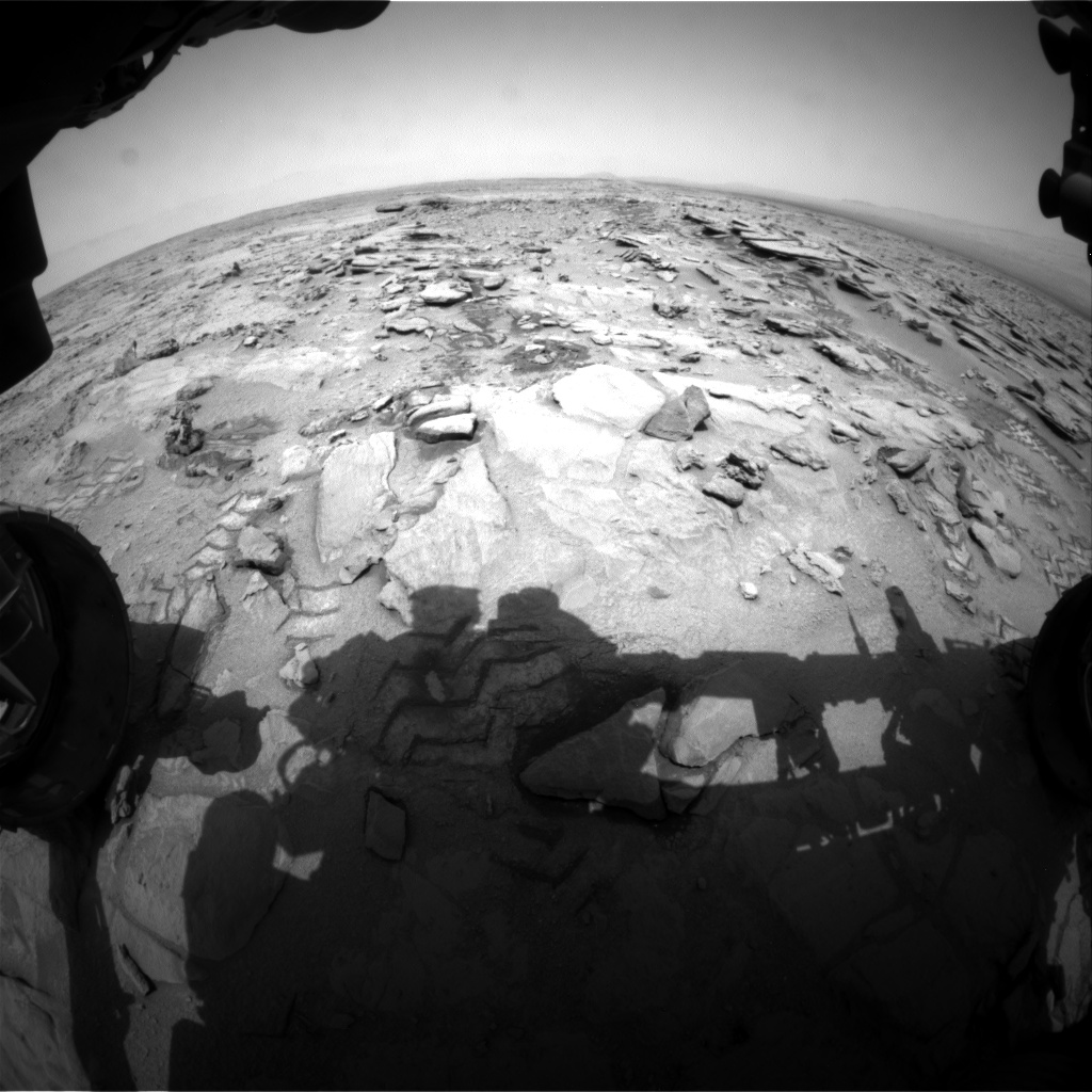 Nasa's Mars rover Curiosity acquired this image using its Front Hazard Avoidance Camera (Front Hazcam) on Sol 317, at drive 758, site number 6