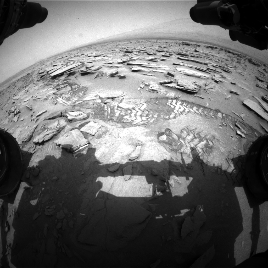 Nasa's Mars rover Curiosity acquired this image using its Front Hazard Avoidance Camera (Front Hazcam) on Sol 317, at drive 722, site number 6