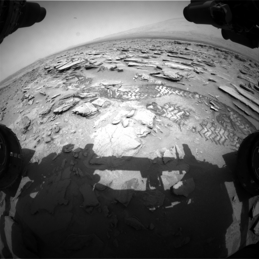 Nasa's Mars rover Curiosity acquired this image using its Front Hazard Avoidance Camera (Front Hazcam) on Sol 317, at drive 728, site number 6