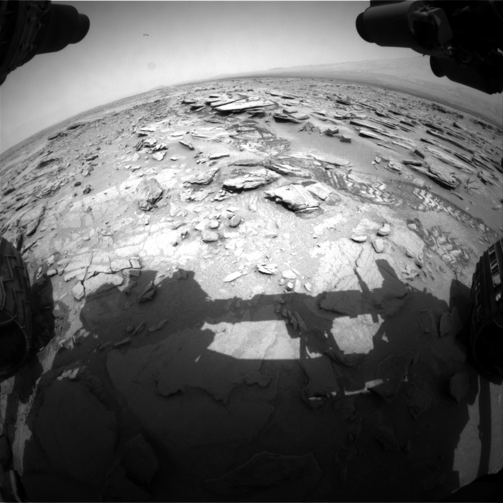 Nasa's Mars rover Curiosity acquired this image using its Front Hazard Avoidance Camera (Front Hazcam) on Sol 317, at drive 734, site number 6