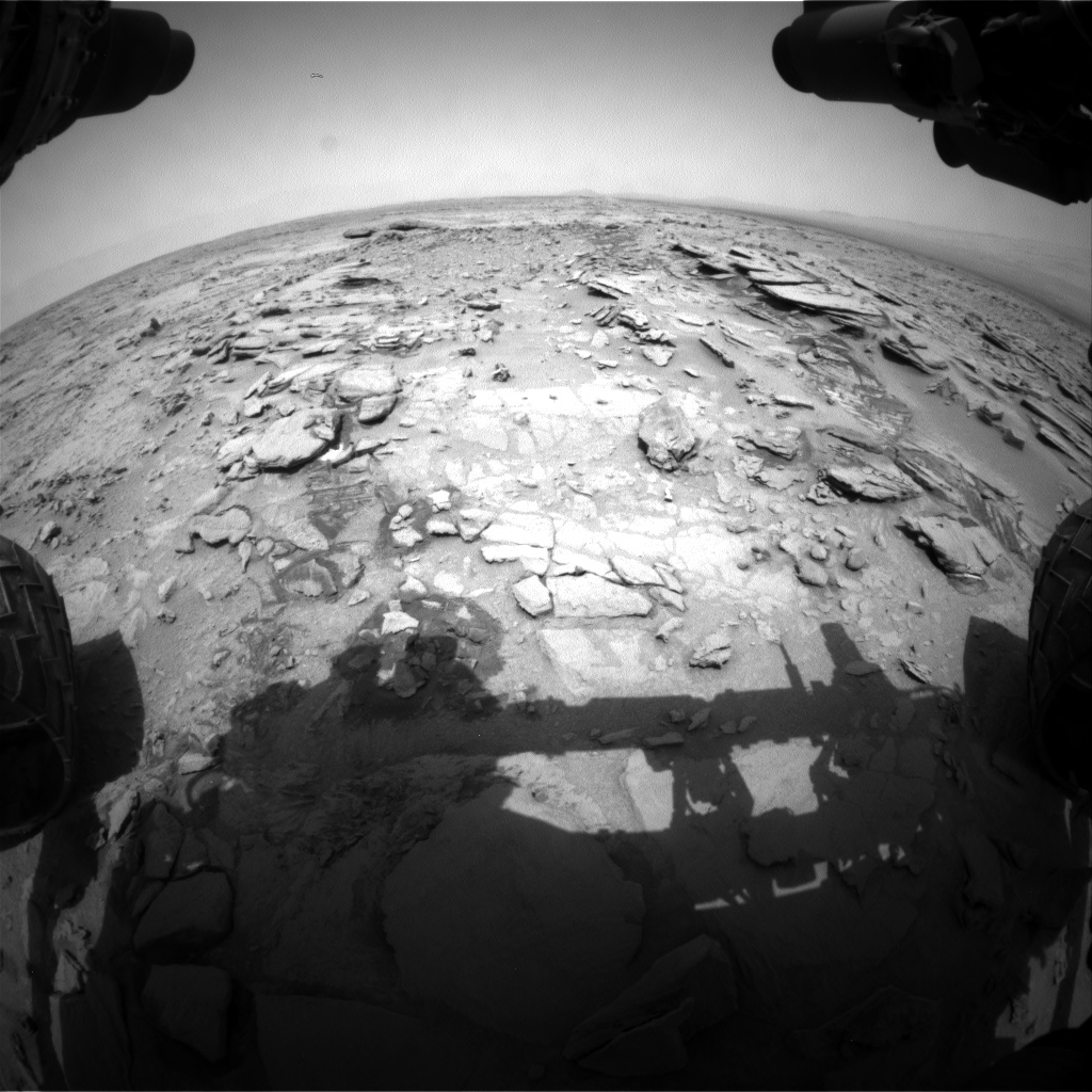 Nasa's Mars rover Curiosity acquired this image using its Front Hazard Avoidance Camera (Front Hazcam) on Sol 317, at drive 746, site number 6