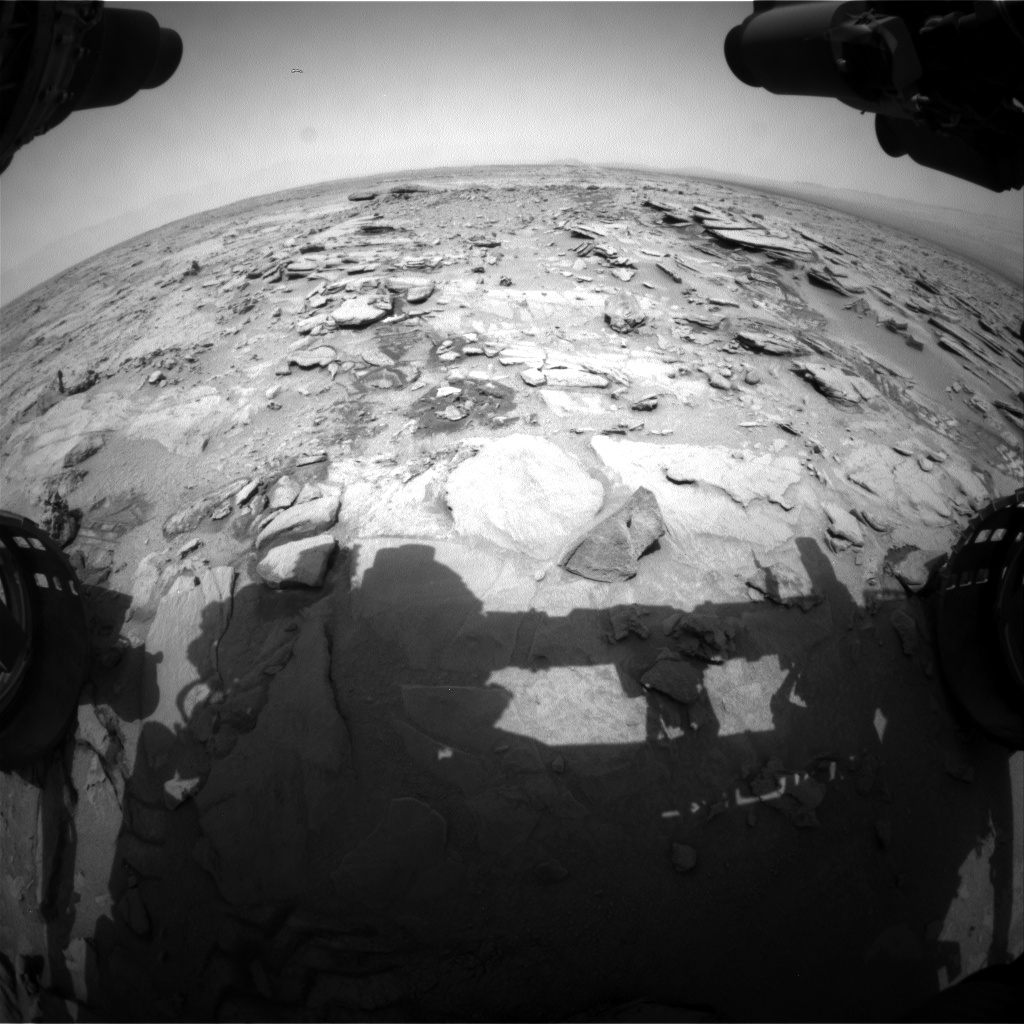 Nasa's Mars rover Curiosity acquired this image using its Front Hazard Avoidance Camera (Front Hazcam) on Sol 317, at drive 752, site number 6