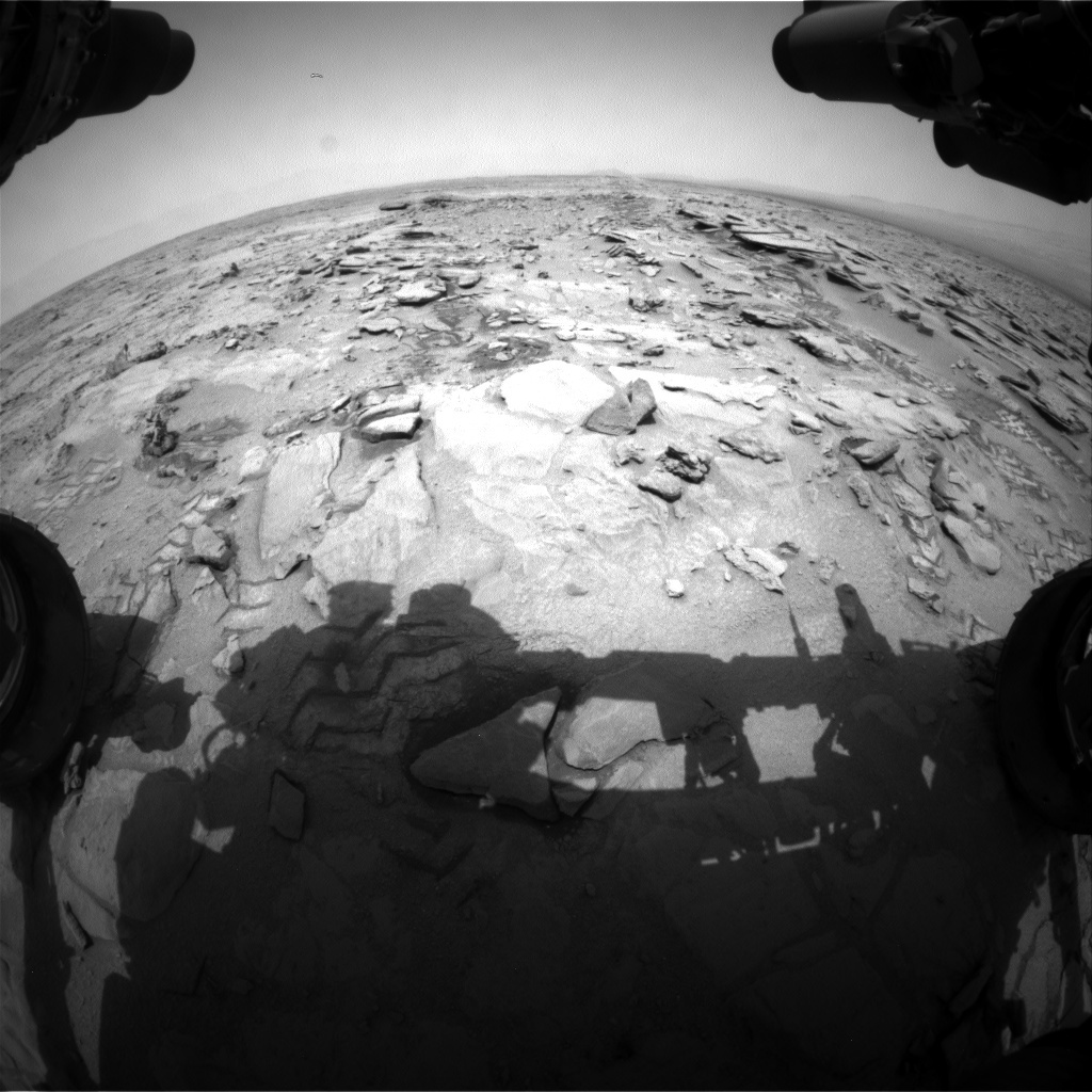 NASA's Mars rover Curiosity acquired this image using its Front Hazard Avoidance Cameras (Front Hazcams) on Sol 317
