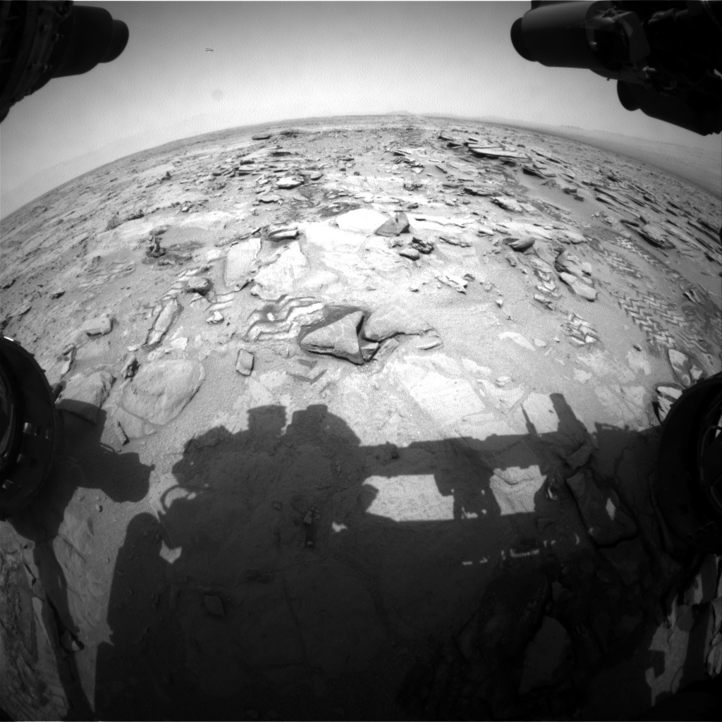 Nasa's Mars rover Curiosity acquired this image using its Front Hazard Avoidance Camera (Front Hazcam) on Sol 317, at drive 764, site number 6