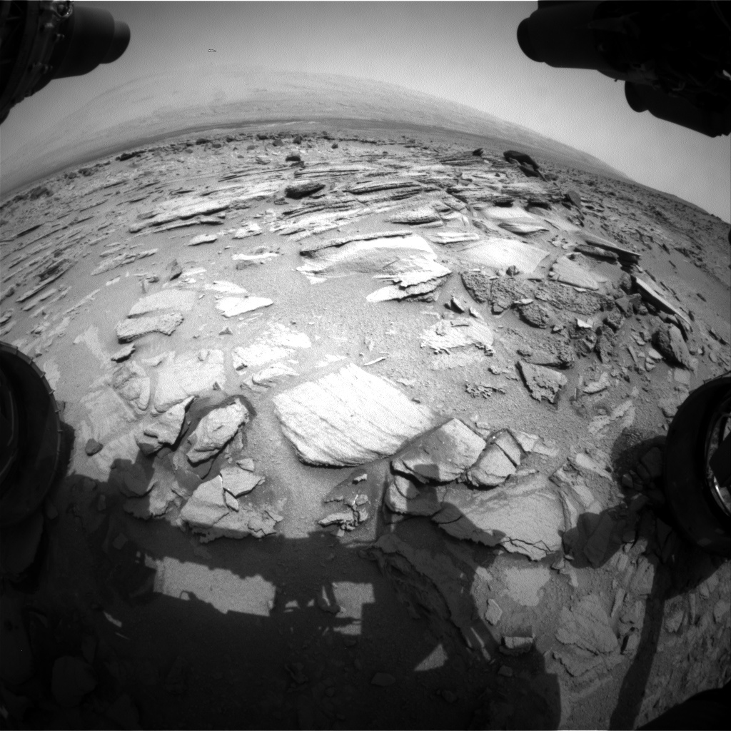 Nasa's Mars rover Curiosity acquired this image using its Front Hazard Avoidance Camera (Front Hazcam) on Sol 317, at drive 804, site number 6