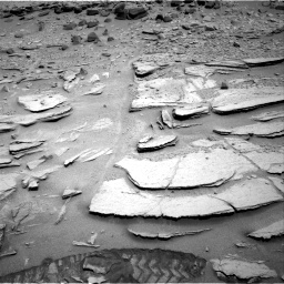 NASA's Mars rover Curiosity acquired this image using its Right Navigation Cameras (Navcams) on Sol 317