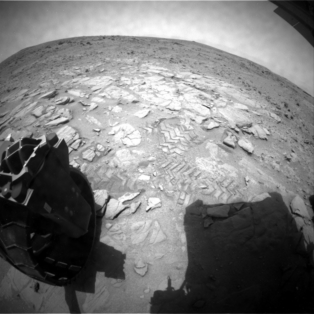 NASA's Mars rover Curiosity acquired this image using its Rear Hazard Avoidance Cameras (Rear Hazcams) on Sol 317