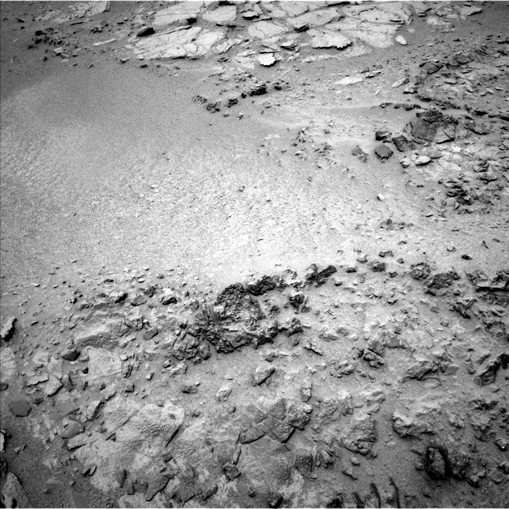 NASA's Mars rover Curiosity acquired this image using its Left Navigation Camera (Navcams) on Sol 318