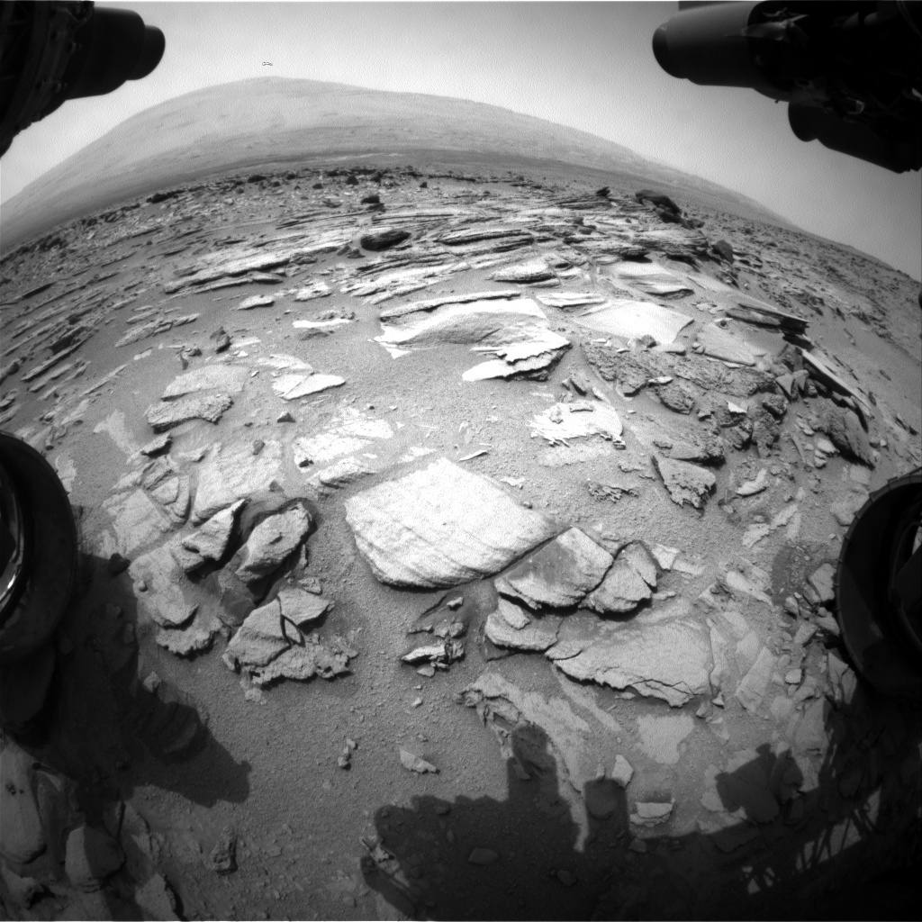 NASA's Mars rover Curiosity acquired this image using its Front Hazard Avoidance Cameras (Front Hazcams) on Sol 319