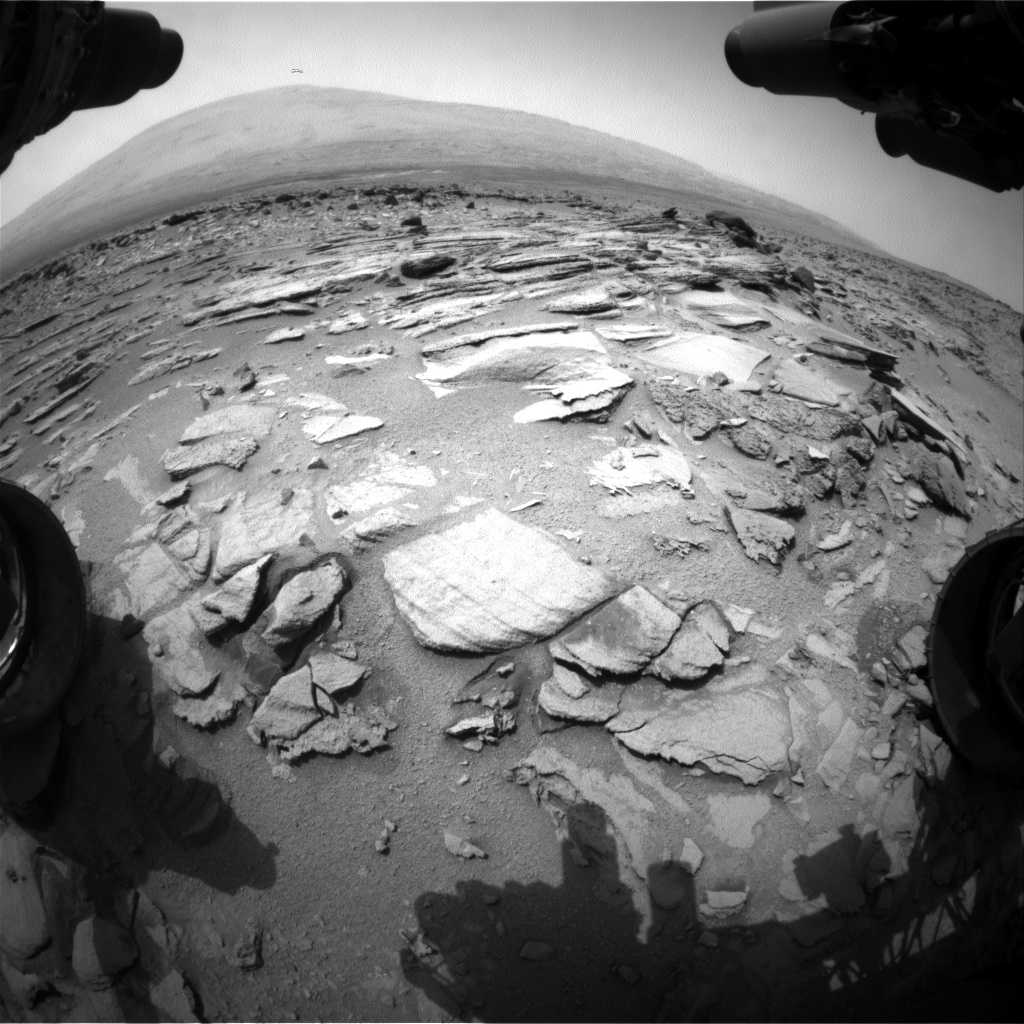 Nasa's Mars rover Curiosity acquired this image using its Front Hazard Avoidance Camera (Front Hazcam) on Sol 320, at drive 804, site number 6
