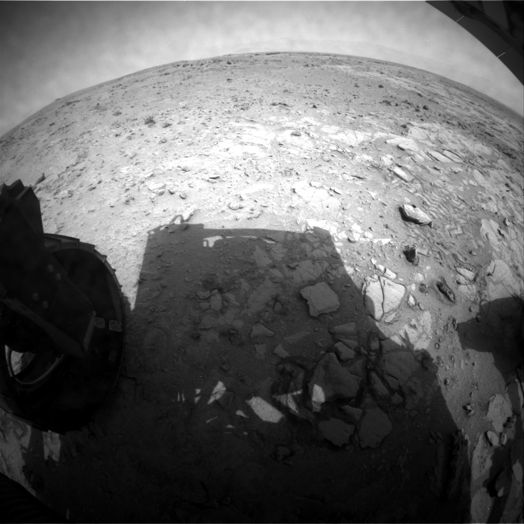 NASA's Mars rover Curiosity acquired this image using its Rear Hazard Avoidance Cameras (Rear Hazcams) on Sol 320