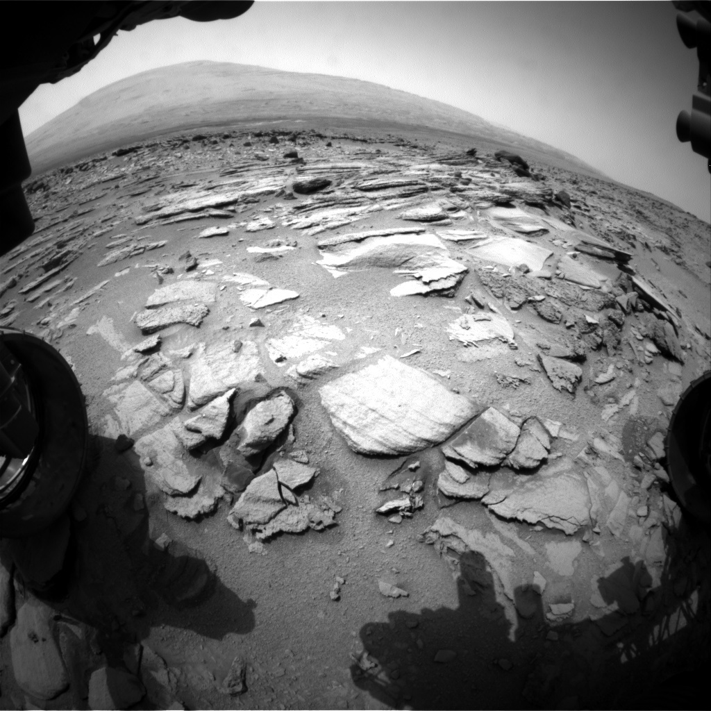 NASA's Mars rover Curiosity acquired this image using its Front Hazard Avoidance Cameras (Front Hazcams) on Sol 321