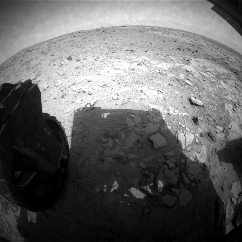 NASA's Mars rover Curiosity acquired this image using its Rear Hazard Avoidance Cameras (Rear Hazcams) on Sol 321
