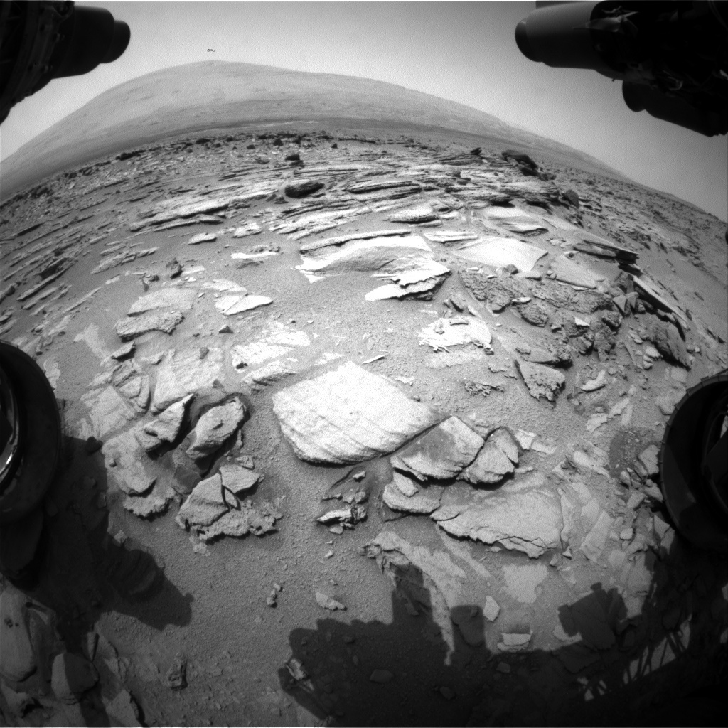 NASA's Mars rover Curiosity acquired this image using its Front Hazard Avoidance Cameras (Front Hazcams) on Sol 322