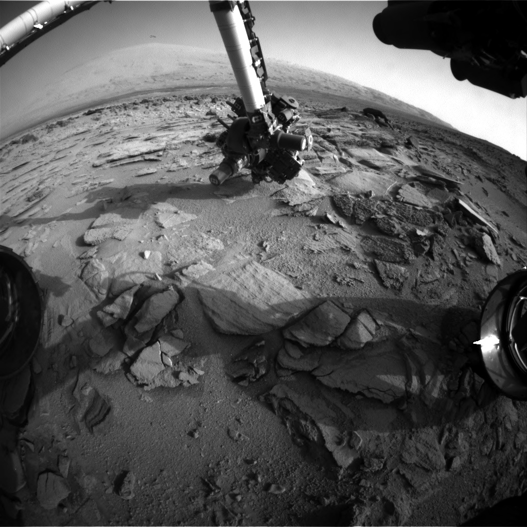 Nasa's Mars rover Curiosity acquired this image using its Front Hazard Avoidance Camera (Front Hazcam) on Sol 322, at drive 804, site number 6