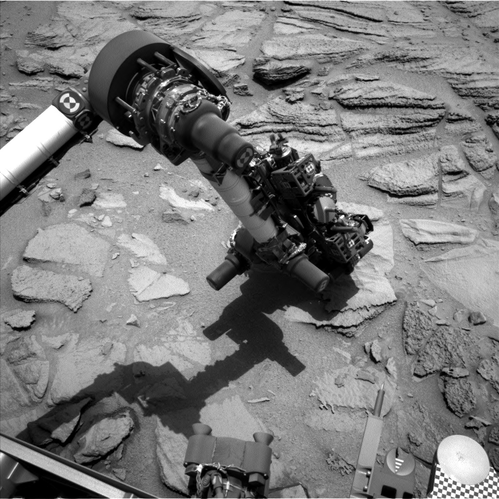Nasa's Mars rover Curiosity acquired this image using its Left Navigation Camera on Sol 322, at drive 804, site number 6