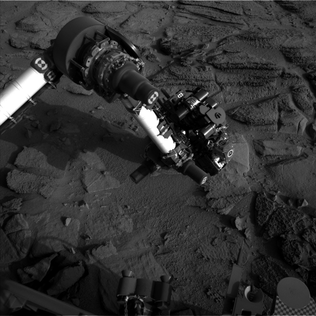 NASA's Mars rover Curiosity acquired this image using its Left Navigation Camera (Navcams) on Sol 322