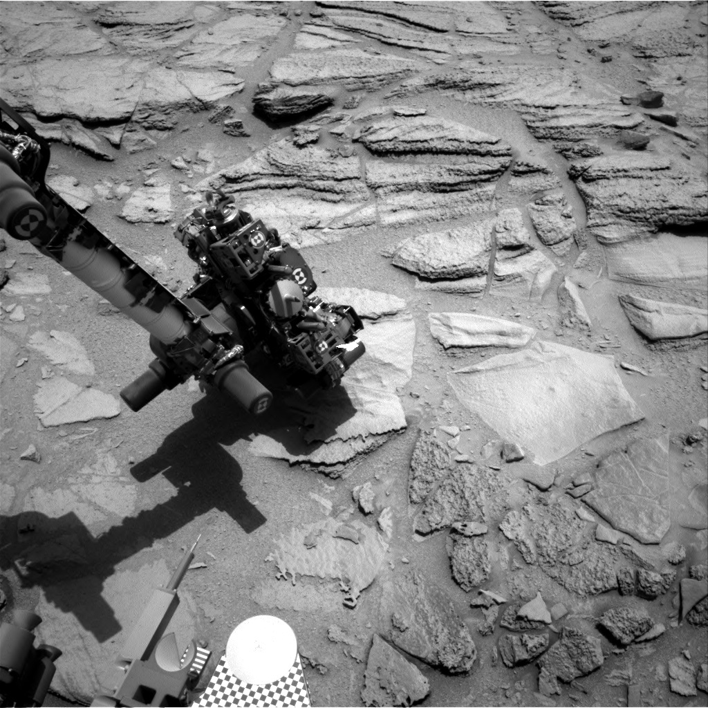 NASA's Mars rover Curiosity acquired this image using its Right Navigation Cameras (Navcams) on Sol 322