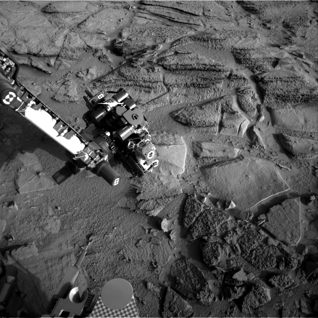 Nasa's Mars rover Curiosity acquired this image using its Right Navigation Camera on Sol 322, at drive 804, site number 6