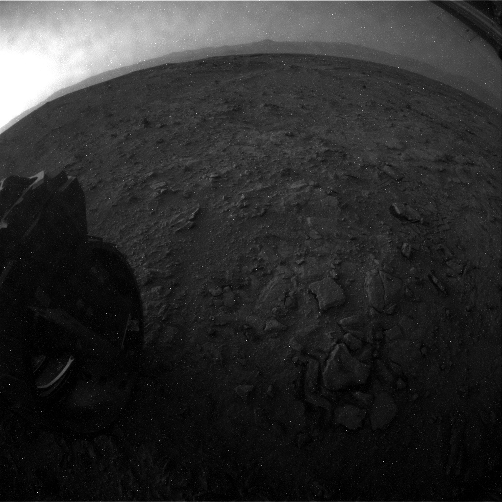 NASA's Mars rover Curiosity acquired this image using its Rear Hazard Avoidance Cameras (Rear Hazcams) on Sol 322