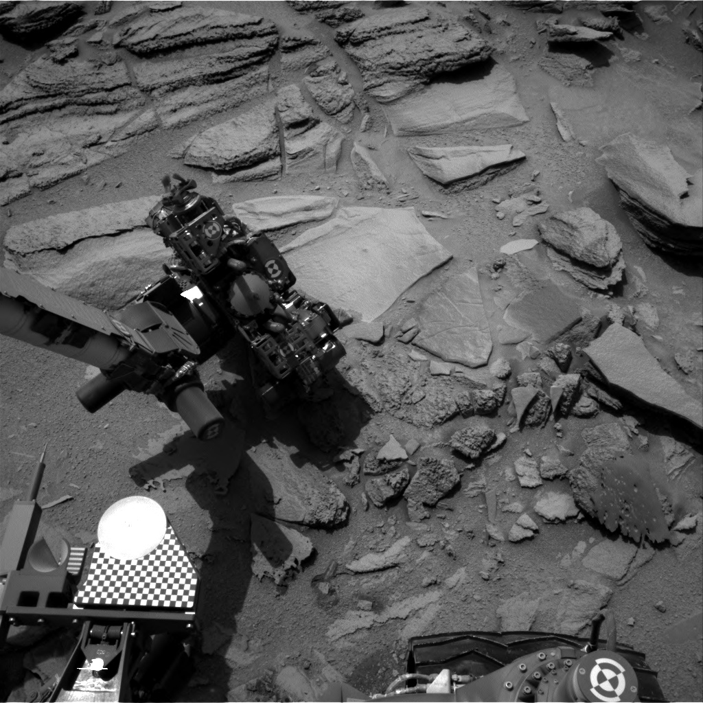 Nasa's Mars rover Curiosity acquired this image using its Right Navigation Camera on Sol 323, at drive 804, site number 6