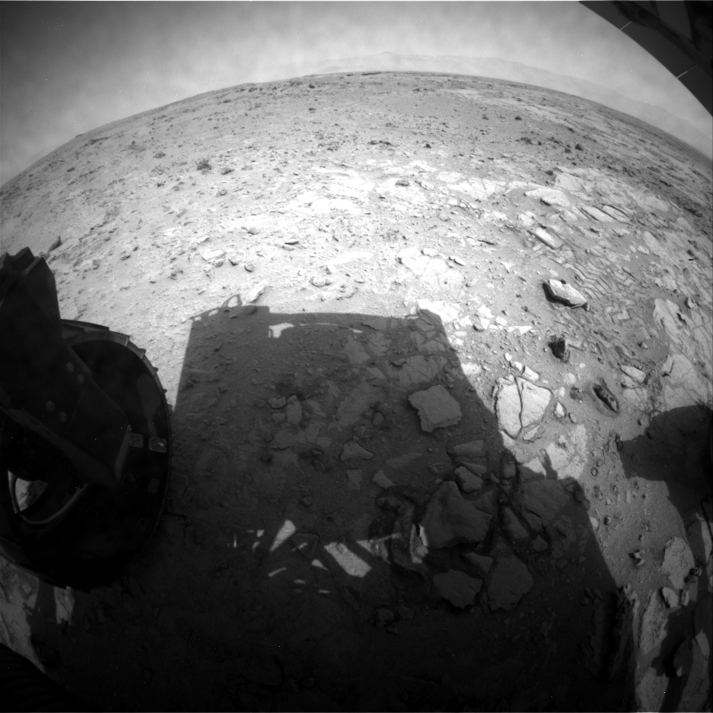 NASA's Mars rover Curiosity acquired this image using its Rear Hazard Avoidance Cameras (Rear Hazcams) on Sol 323