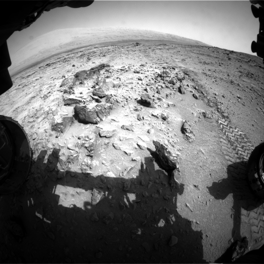 NASA's Mars rover Curiosity acquired this image using its Front Hazard Avoidance Cameras (Front Hazcams) on Sol 324