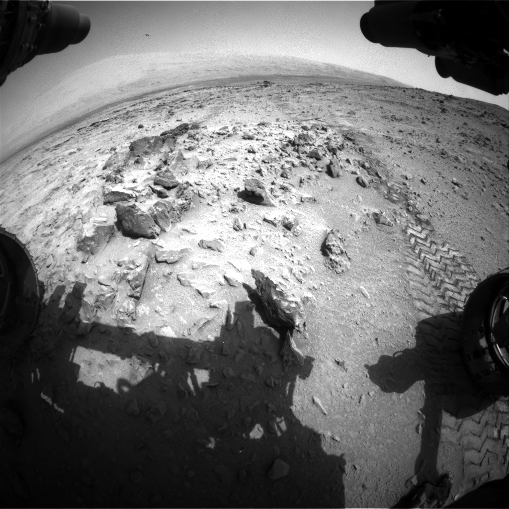 Nasa's Mars rover Curiosity acquired this image using its Front Hazard Avoidance Camera (Front Hazcam) on Sol 324, at drive 0, site number 7