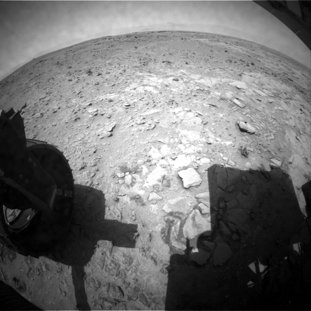 NASA's Mars rover Curiosity acquired this image using its Rear Hazard Avoidance Cameras (Rear Hazcams) on Sol 324