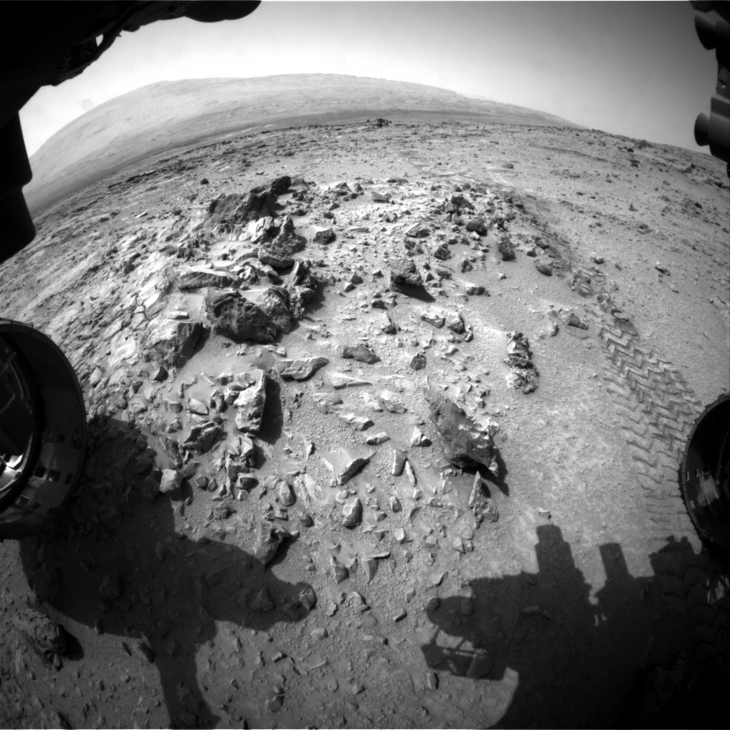 NASA's Mars rover Curiosity acquired this image using its Front Hazard Avoidance Cameras (Front Hazcams) on Sol 325