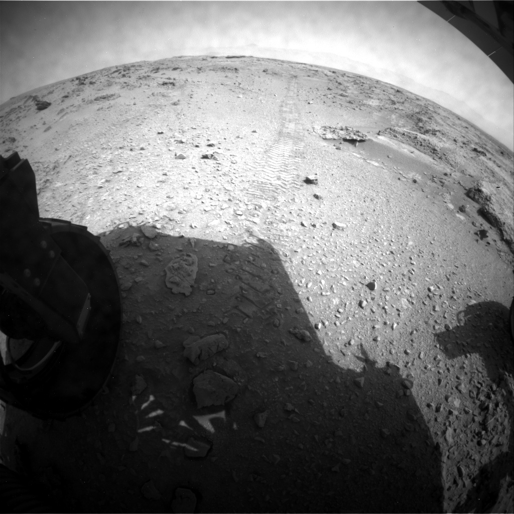 NASA's Mars rover Curiosity acquired this image using its Rear Hazard Avoidance Cameras (Rear Hazcams) on Sol 325