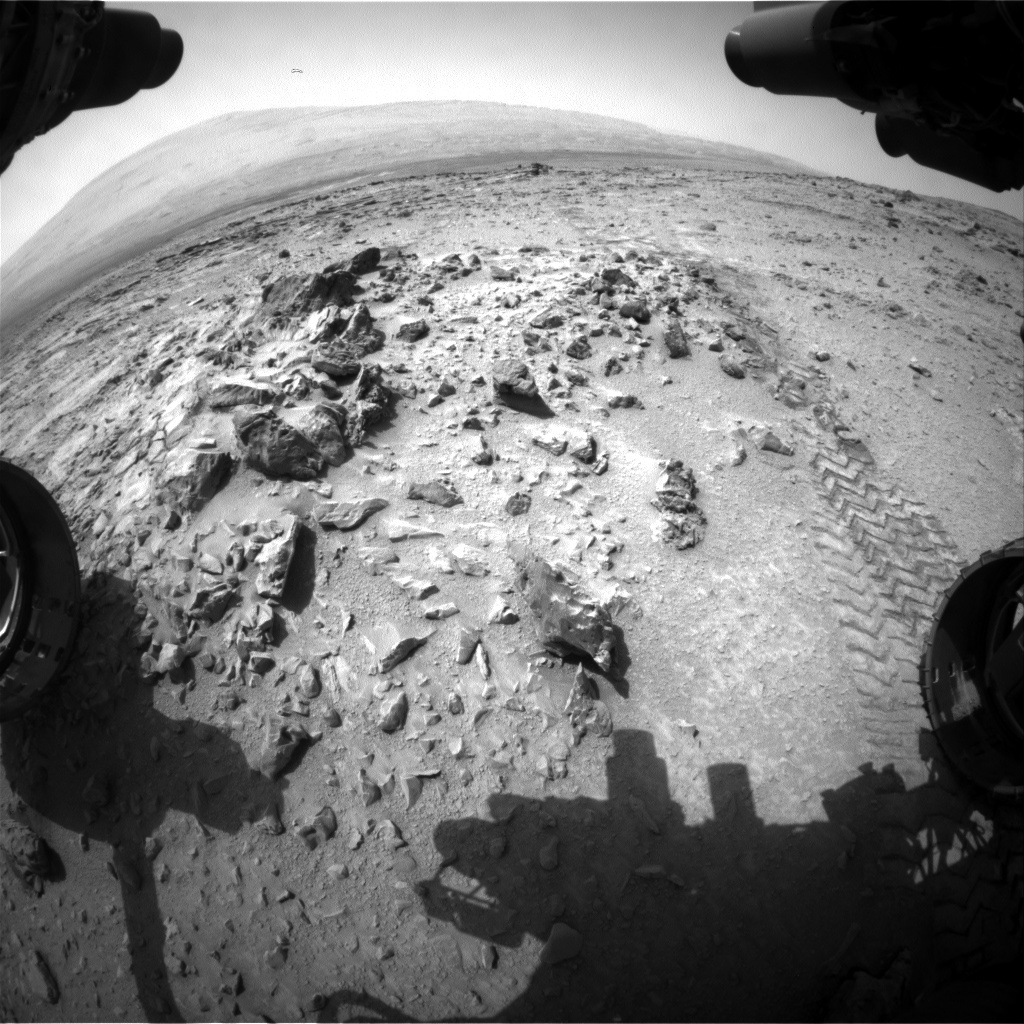 NASA's Mars rover Curiosity acquired this image using its Front Hazard Avoidance Cameras (Front Hazcams) on Sol 327