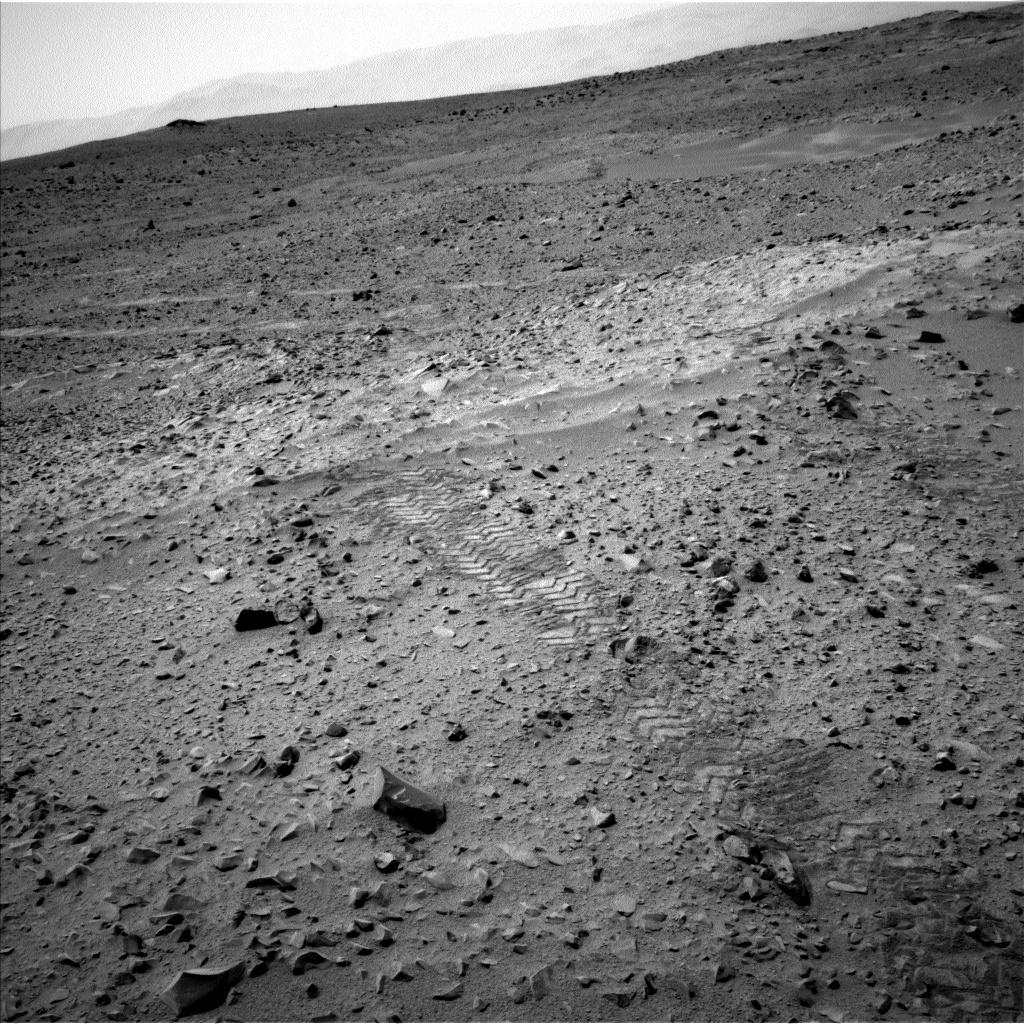 Nasa's Mars rover Curiosity acquired this image using its Left Navigation Camera on Sol 327, at drive 136, site number 7