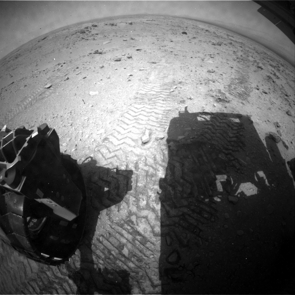 NASA's Mars rover Curiosity acquired this image using its Rear Hazard Avoidance Cameras (Rear Hazcams) on Sol 327