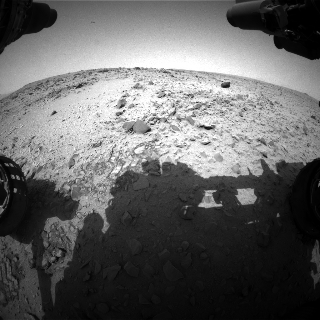 NASA's Mars rover Curiosity acquired this image using its Front Hazard Avoidance Cameras (Front Hazcams) on Sol 328