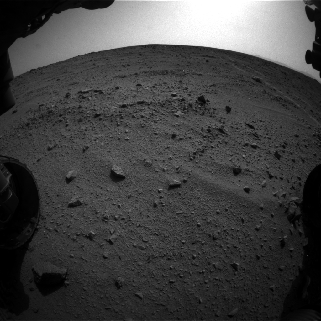 NASA's Mars rover Curiosity acquired this image using its Front Hazard Avoidance Cameras (Front Hazcams) on Sol 329