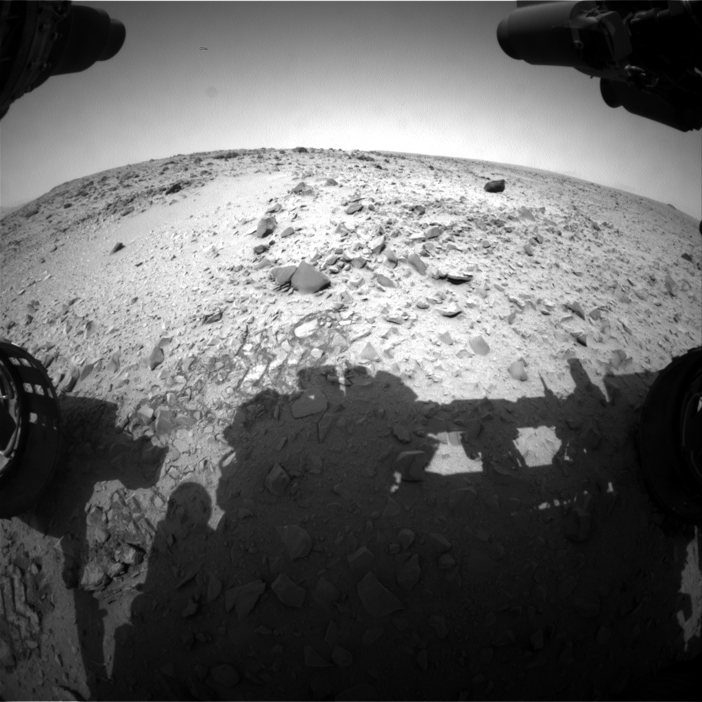 Nasa's Mars rover Curiosity acquired this image using its Front Hazard Avoidance Camera (Front Hazcam) on Sol 329, at drive 136, site number 7