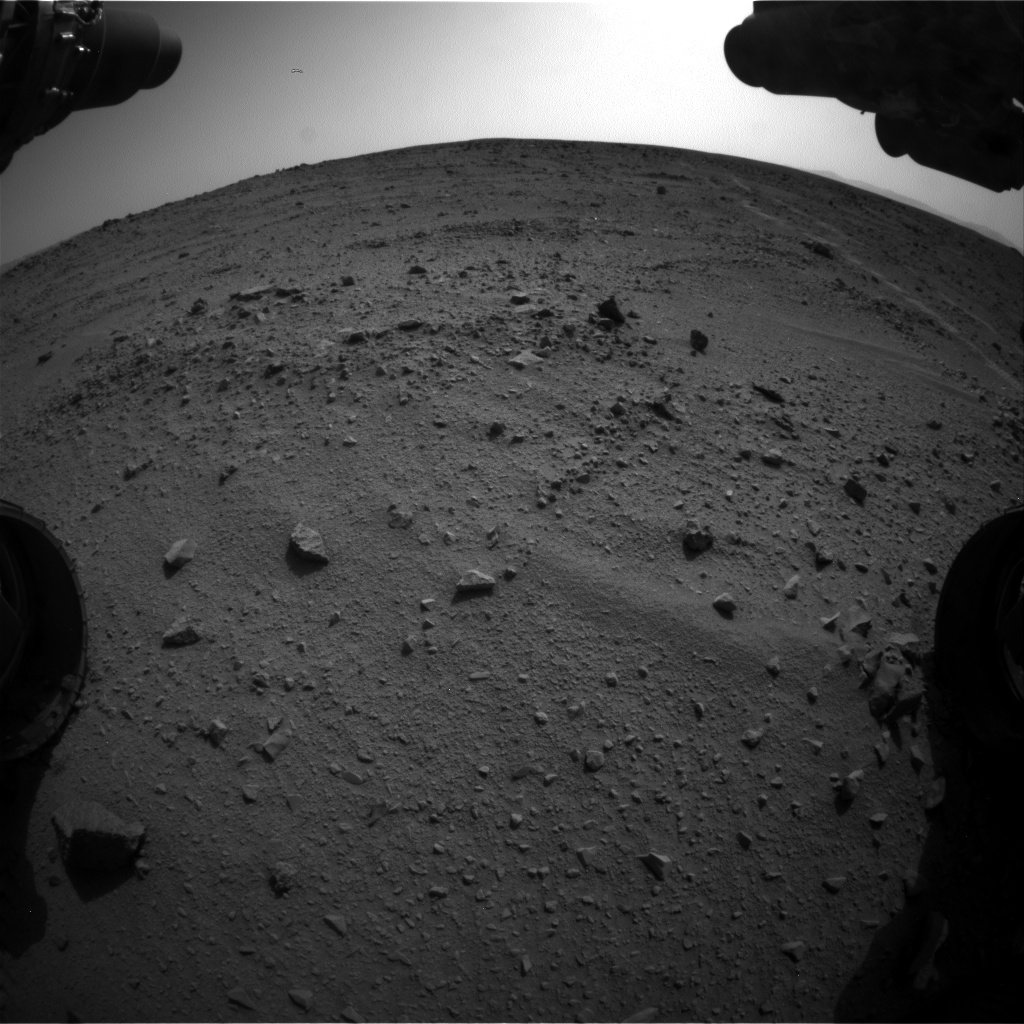 Nasa's Mars rover Curiosity acquired this image using its Front Hazard Avoidance Camera (Front Hazcam) on Sol 329, at drive 270, site number 7
